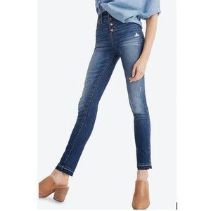 Madewell 10-inch High Waist Drop Hem Skinny Jeans